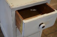 Vintage filing cabinet - drawer detail - etvoilaatelier