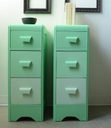 rangements 3 tiroirs vert menthe