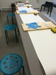 Atelier technique de ponçage - et voila renovation meubles vintage modernisés a la main et accessoires de déco in Montreal Canada