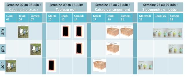 calendrier ateliers découverte Juin 2014 - et voila atelier