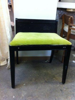 Le petit fauteuil, à son arrivée à l'atelier