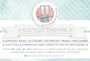 vente ephemere cestcreeprezdechezvous 5 avril - Espace Pop Montreal verso