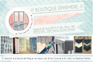 vente ephemere cestcreeprezdechezvous 5 avril - Espace Pop Montreal