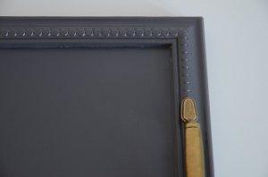 Plateau cuisine gris poignees vintage grey coffee tray - detail - etvoilaatelier