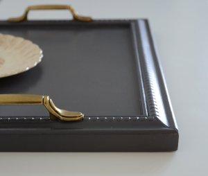 Plateau cuisine gris poignees vintage grey coffee tray - details - etvoilaatelier