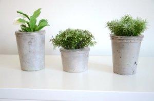 Pot de fleurs en béton G&M : Concrete flower vase pot - etvoilaatelier
