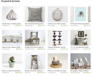 It's good to be home - Etsy treasury by etvoilaatelier