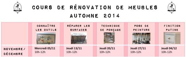 Calendrier cours rénovation meubles Nov 2014 par et voila atelier