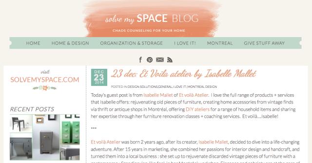 Article sur les produits et services de décoration d'intérieur Et voilà Atelier sur le blog Solve my Space